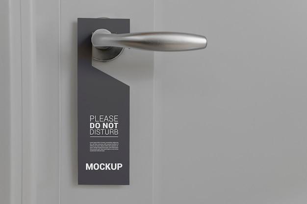 Close-up op een deurhangermodel