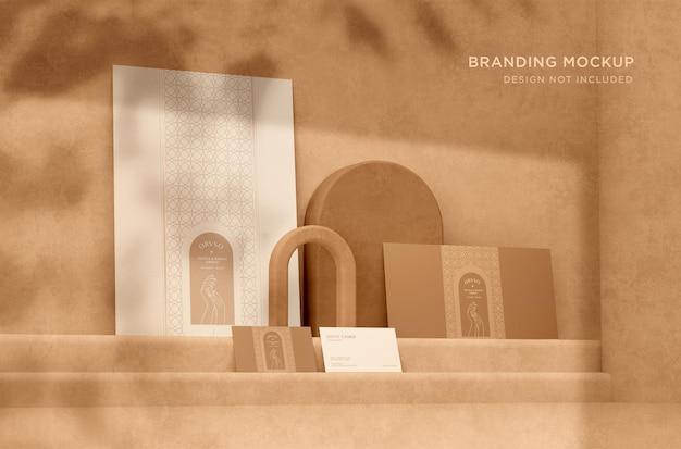 Close-up op elegant branding mockup design