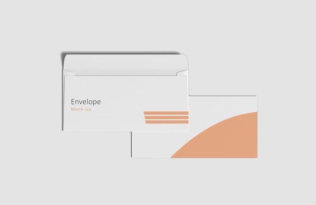 Close-up op envelop mockup geïsoleerd