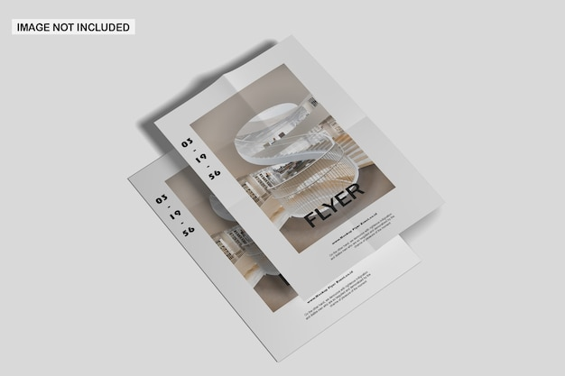 Close-up op flyer mockup geïsoleerd