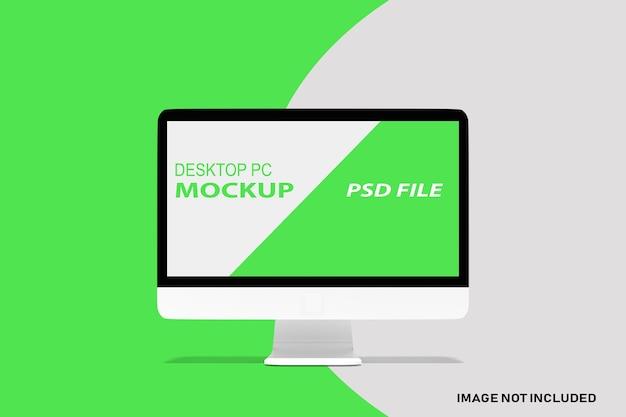 Close-up op geïsoleerde desktop werkruimte mockup