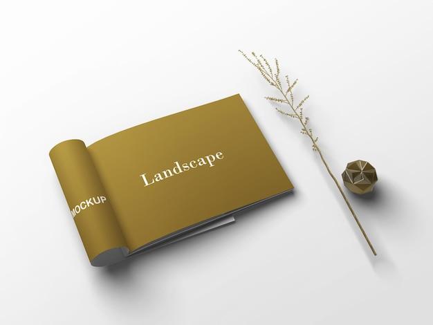 Close-up op geïsoleerde landschapsmodel
