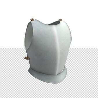 Close-up op lichaam shiled krijger geïsoleerd premium psd