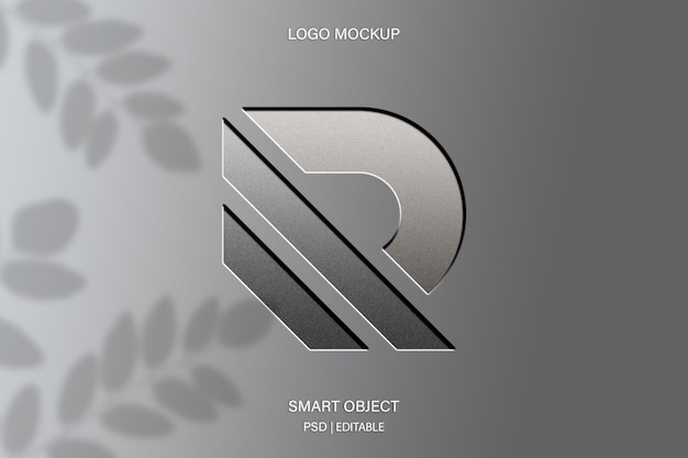 Close-up op logo mockup met inscriptie