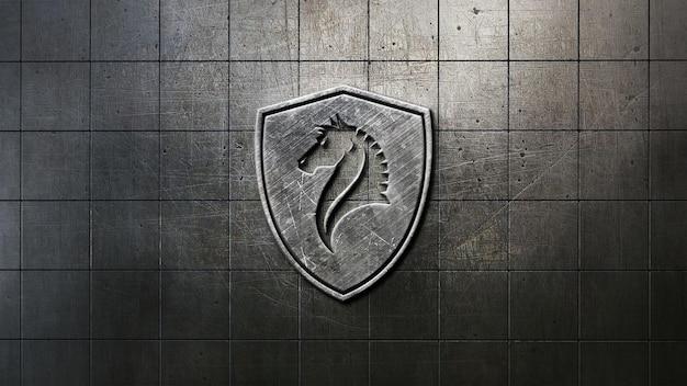 Close-up op logo mockup