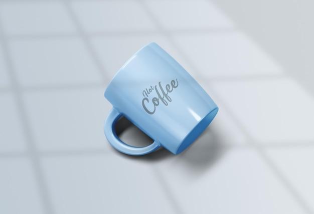 Close-up op luxe koffiekopje mockup
