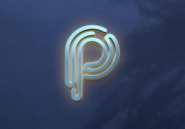 Close-up op luxe logo mockup voor bedrijven