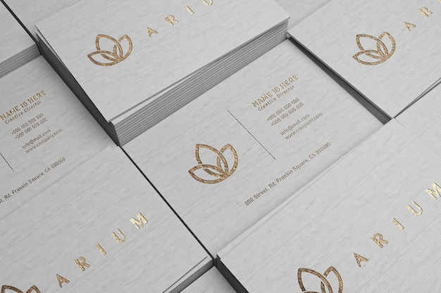 Close-up op luxe visitekaartje mockup