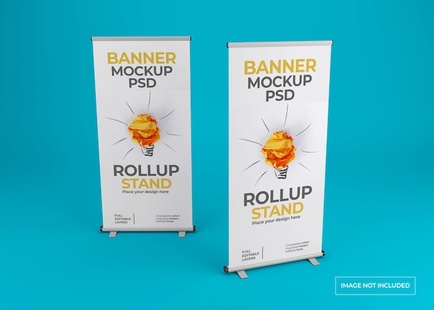 Close-up op mooie roll-up banner mockup