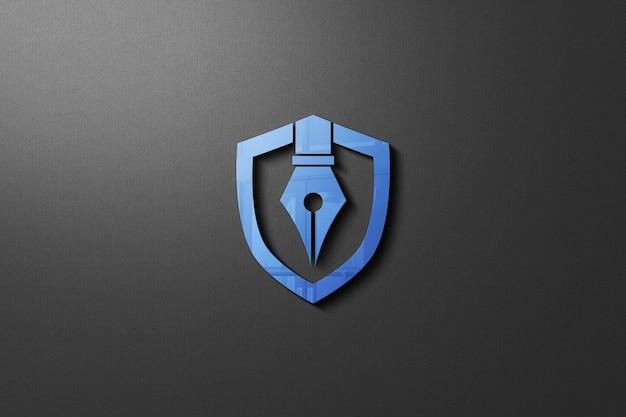 Close-up op muur logo mockup geïsoleerd