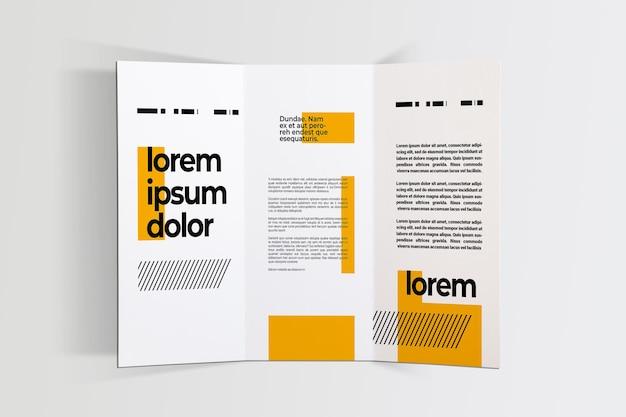 Close-up op pagina's brochure mockup ontwerp