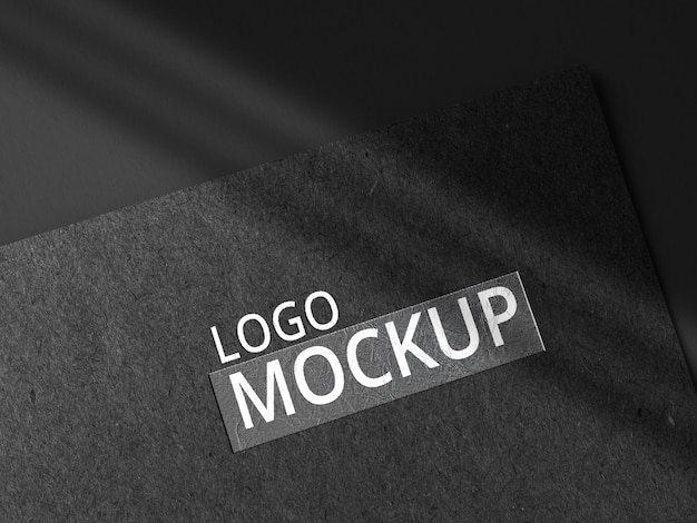 Close-up op paper logo mockup