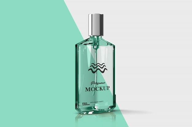 Close-up op parfum glazen fles mockup