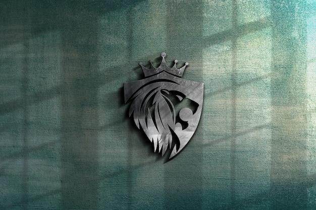 Close-up op prachtige luxe logo mockup