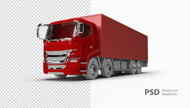 Close-up op rode vrachtwagen
