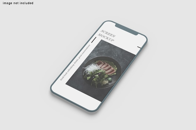 Close-up op scherm telefoon mockup geïsoleerd
