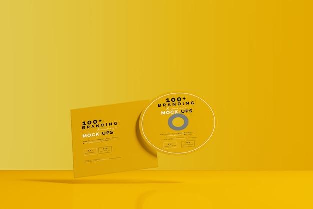 Close-up op verpakking van cd-schijf en hoesmodel