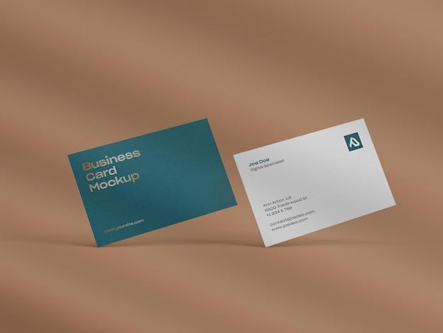 Close-up op visitekaartje mockup ontwerp
