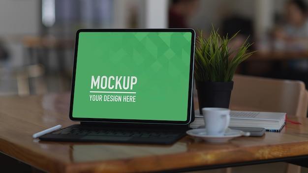 Close-up van digitale tablet mockup
