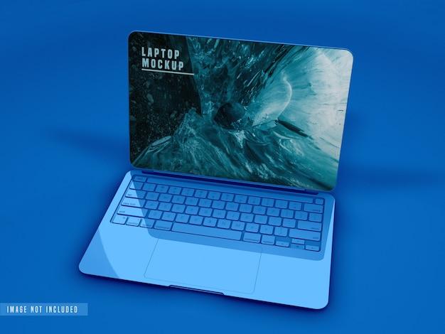 Close-up van laptop mockup design