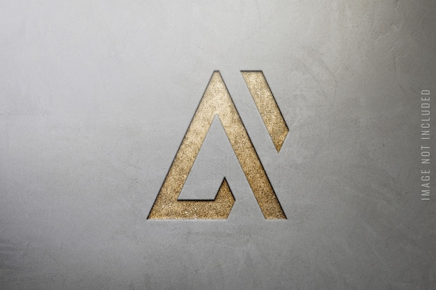 Close up van luxe logo mockup