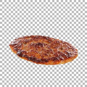 Close-up weergave heerlijke patty geïsoleerd