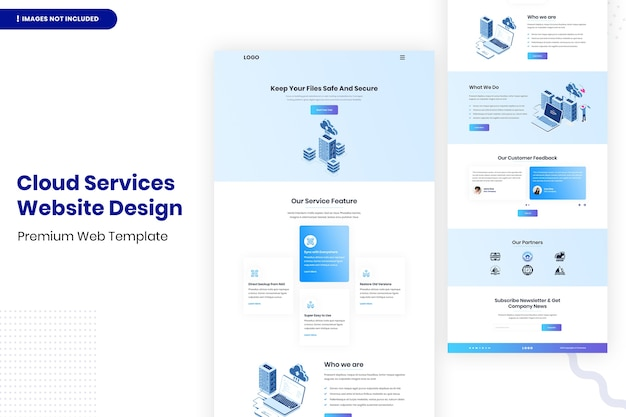 Cloud services website ontwerpsjabloon