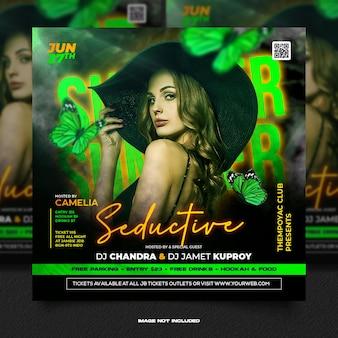 Club dj feest flyer social media bericht