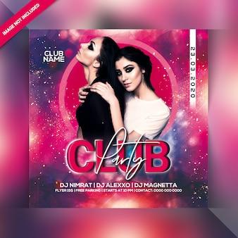 Club feest folder