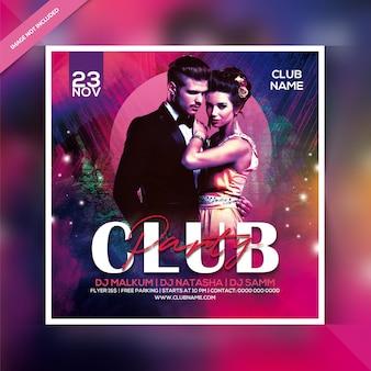 Club feestavond flyer