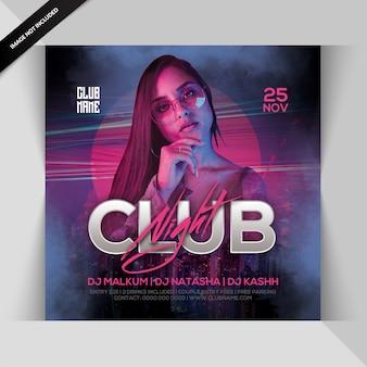 Club nacht feest flyer