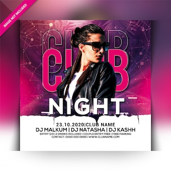 Club night party flyer-sjabloon