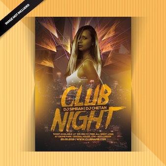 Club night party-flyer
