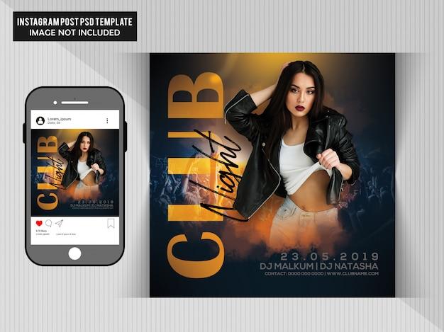 Club night party-flyer