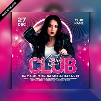 Club night party folder sjabloon