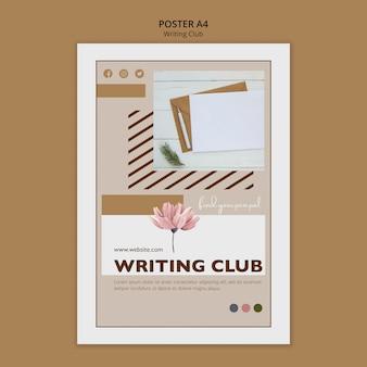 Club poster sjabloon schrijven
