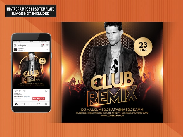 Club remix party-flyer