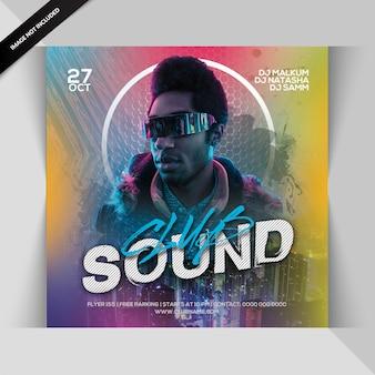 Club sound night party flyer