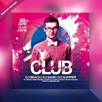Club vrijdag party flyer