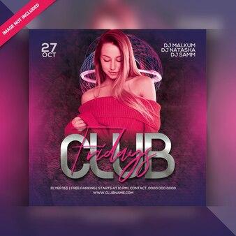 Club vrijdagavond feest flyer