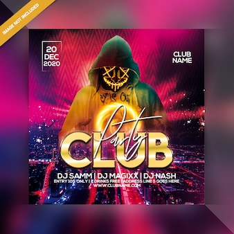 Clubfeest flyer