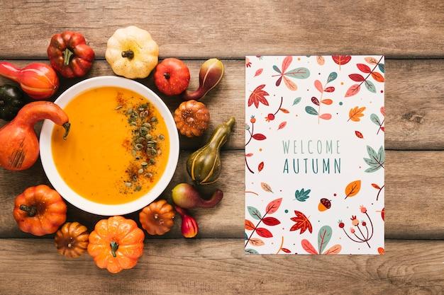 Cocido húngaro de verduras con cita de otoño de bienvenida