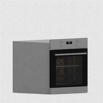 Cocina isométrica render 3d