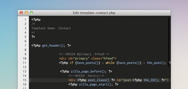 Code-editor app psd