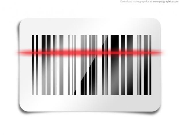 Código de barras escaneado icono (psd)