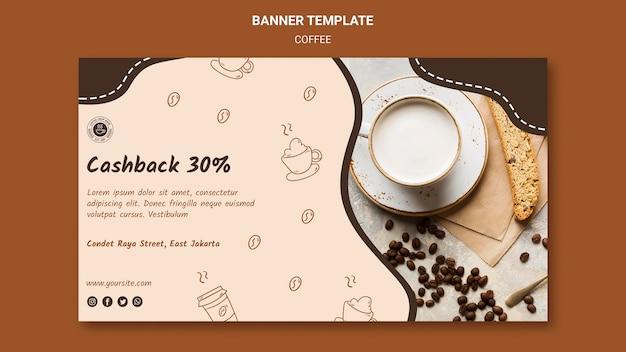 Coffeeshop advertentie sjabloon voor spandoek