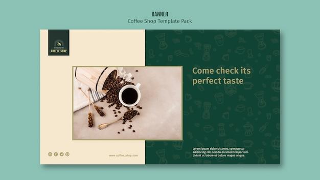 Coffeeshop banner sjabloon pack