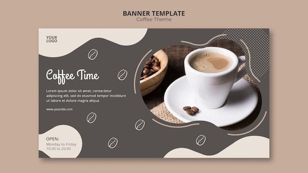 Coffeeshop concept sjabloon voor spandoek