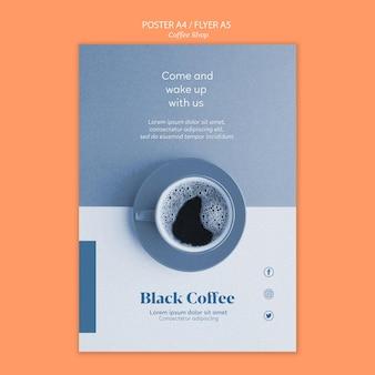 Coffeeshop flyer sjabloon