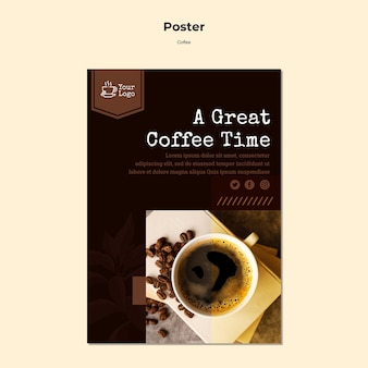 Coffeeshop poster sjabloon